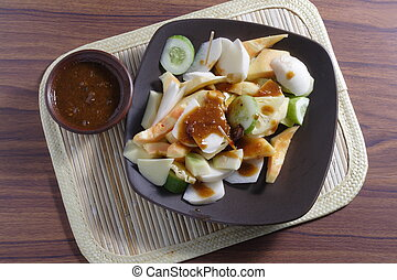 Rujak, Traditional fruit salad dish - Rujak, Indonesia...