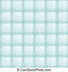Seamless Pattern with Blue Square Buttons