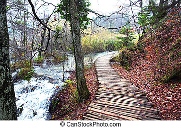 Plitvice Lakes National Park - Breathtaking view in the...