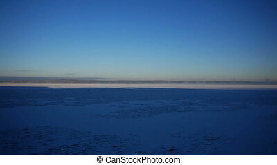 Peaceful view of frozen lake in Russia - Quite day at frozen...