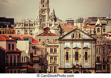 Clerigos church Igreja dos Clerigos, Porto, Douro Province,...