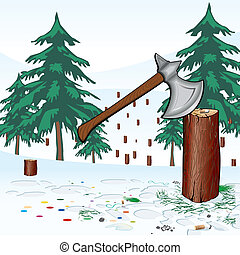Save the forest - Save mostly coniferous forest in ymovyy...