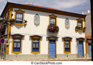 Aveiro, Portugal. Typical building view.