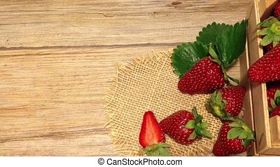 Fresh strawberries - Strawberry closeup Fresh and ripe...