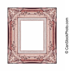 Vintage brown frame with blank space and clipping path,...