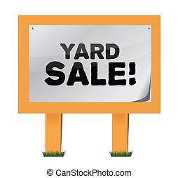 yard sale sign illustration design