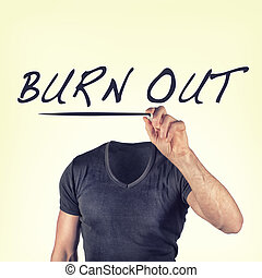 burnout - picture of a burnout concept