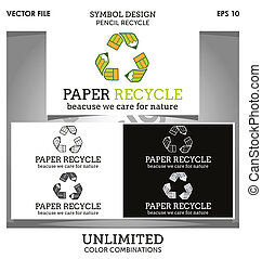 Paper Recycle Logo - Paper recycle logo is an original...