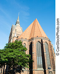 Old town market church, Hannover, Lower Saxony, Germany -...