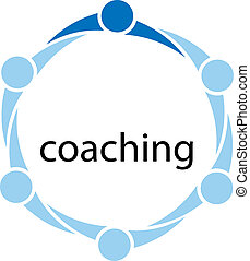 Coaching Concept Illustration - Illustration of a group of...