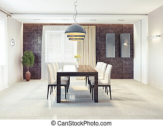 dining room interior - modern dining room interior 3d...