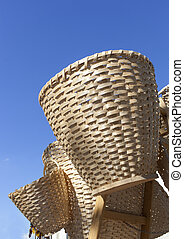 Handmade straw wicker baskets - Handmade traditional straw...