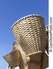 Handmade straw wicker baskets - Handmade traditional straw...