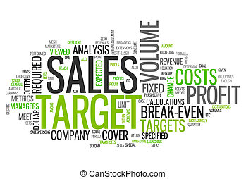 Word Cloud Sales Target - Word Cloud with Sales Target...