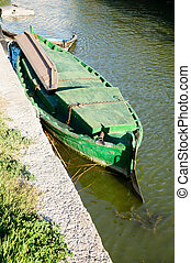 boat in Albufera, Valencia, Spain