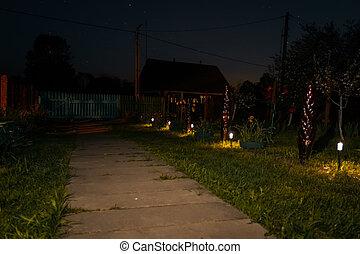 night illumination paths