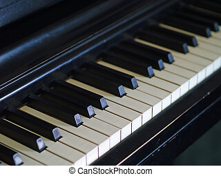 Piano Keys - Piano keys of a very well loved and often...