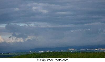 Cloudy landscape timelapse 60x
