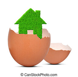 green house in eggshell