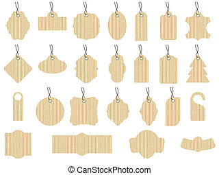 Craft paper, tags set - Examples of tissue paper in...