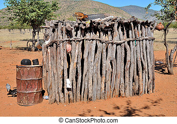 Ovahimba storage room to keep items away from domestic...