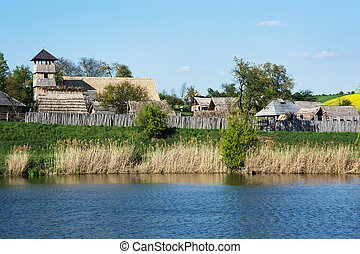 Archeoskanzen Blue - Great Moravian fortified settlement in...