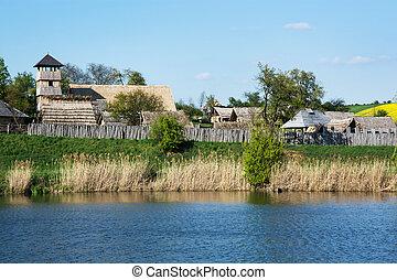 Archeoskanzen Blue - Great Moravian fortified settlement in...
