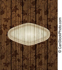 Wooden background with grapes