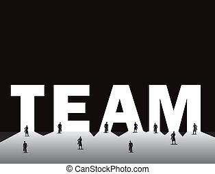 Business man & woman team work