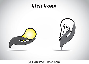 conserve energy, idea solution hand