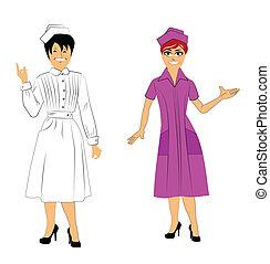 nurses - two nurses in uniform