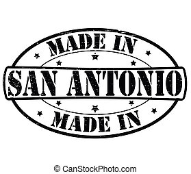Made in San Antonio - Stamp with text made in San Antonio...