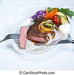 beef ribeye steak - fresh juicy beef ribeye steak grilled...