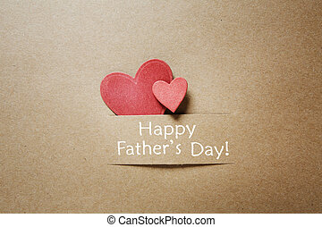 Fathers day message with red hearts - Fathers day message...