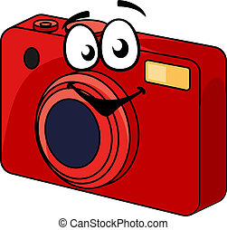 Colorful red point and shoot camera - Colorful red point and...