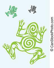 Frog ornate art tribal art vector