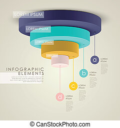 vector abstract 3d pie chart infographic elements -...