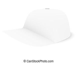3d Render of a White Baseball Cap