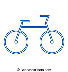 blue bicycle symbol - image of bicycle symbol isolated on...