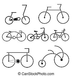 silhouette of bicycle symbol - image of bicycle symbol...