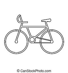 sport bicycle symbol vector