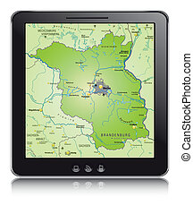 Map of Brandenburg as a mobile phone