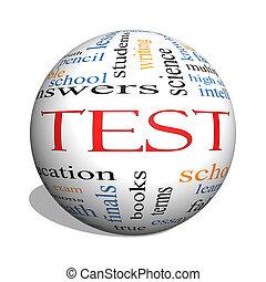 Test 3D sphere Word Cloud Concept