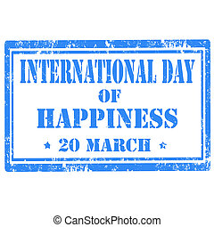 International Day Of Happiness-stamp