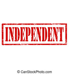 Independent-stamp - Grunge rubber stamp with text...