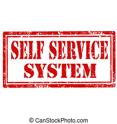 Self Service System-stamp - Grunge rubber stamp with text...