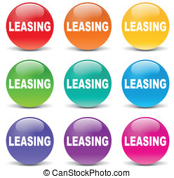 Vector leasing icons - Vector illustration of leasing set...