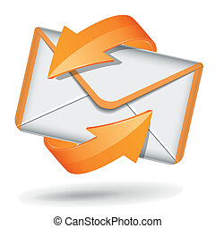Vector email icon - Vector illustration of email icon on...