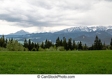 Tatra panorama - Beautiful panorama in the Polish mountains