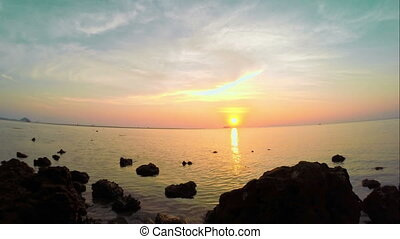 Sunset on Samui - sunset over andaman sea on samui,...